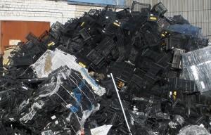 Отходы полипропиленовых ящиков